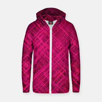 Thumbnail image of Red/Fuchsia Diagonal Line Pattern Zip up hoodie, Live Heroes