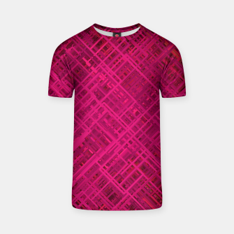 Thumbnail image of Red/Fuchsia Diagonal Line Pattern T-shirt, Live Heroes