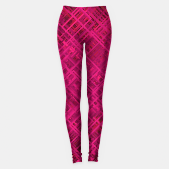Thumbnail image of Red/Fuchsia Diagonal Line Pattern Leggings, Live Heroes