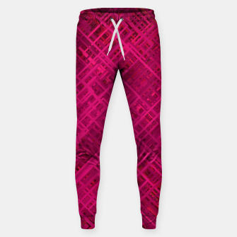 Thumbnail image of Red/Fuchsia Diagonal Line Pattern Sweatpants, Live Heroes