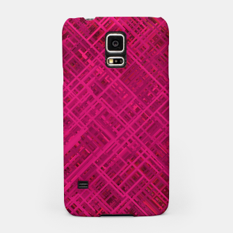 Thumbnail image of Red/Fuchsia Diagonal Line Pattern Samsung Case, Live Heroes