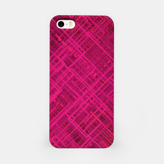Thumbnail image of Red/Fuchsia Diagonal Line Pattern iPhone Case, Live Heroes