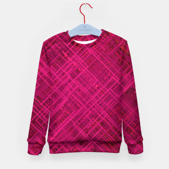 Thumbnail image of Red/Fuchsia Diagonal Line Pattern Kid's sweater, Live Heroes