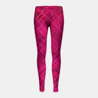 Thumbnail image of Red/Fuchsia Diagonal Line Pattern Girl's leggings, Live Heroes