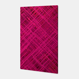Thumbnail image of Red/Fuchsia Diagonal Line Pattern Canvas, Live Heroes