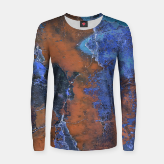 Miniaturka Grunge Colorful Abstract Texture Print Women sweater, Live Heroes