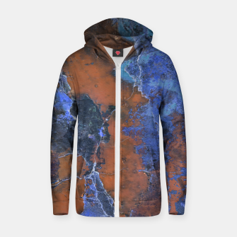 Miniaturka Grunge Colorful Abstract Texture Print Zip up hoodie, Live Heroes
