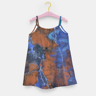Miniaturka Grunge Colorful Abstract Texture Print Girl's dress, Live Heroes