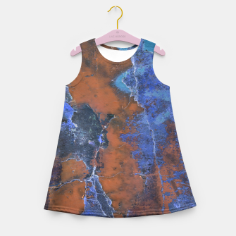 Miniaturka Grunge Colorful Abstract Texture Print Girl's summer dress, Live Heroes