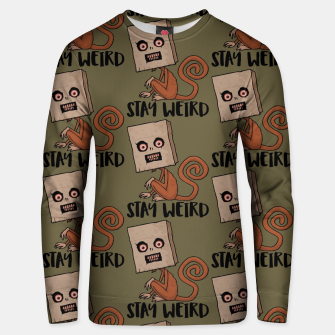 Stay Weird Sack Monkey Pattern Unisex sweater Bild der Miniatur