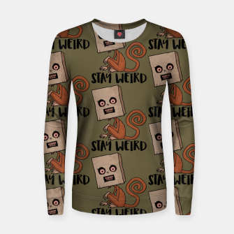Stay Weird Sack Monkey Pattern Women sweater Bild der Miniatur