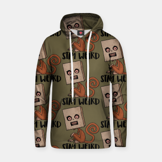 Stay Weird Sack Monkey Pattern Hoodie Bild der Miniatur