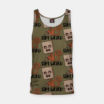 Stay Weird Sack Monkey Pattern Tank Top Bild der Miniatur