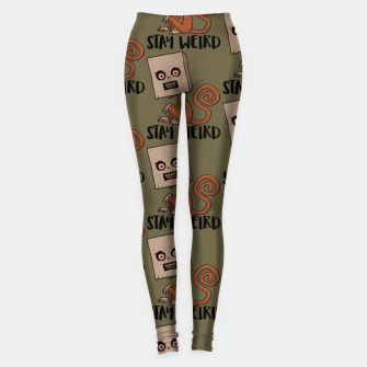 Stay Weird Sack Monkey Pattern Leggings Bild der Miniatur