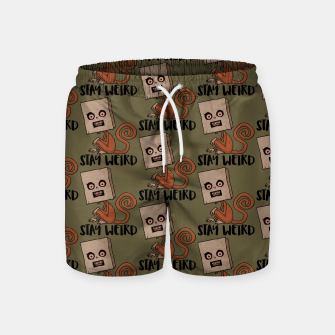Stay Weird Sack Monkey Pattern Swim Shorts Bild der Miniatur