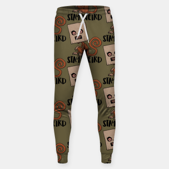 Stay Weird Sack Monkey Pattern Sweatpants Bild der Miniatur