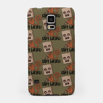 Stay Weird Sack Monkey Pattern Samsung Case Bild der Miniatur