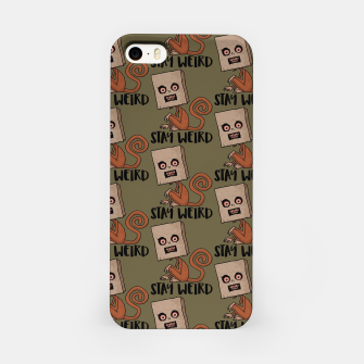 Miniatur Stay Weird Sack Monkey Pattern iPhone Case, Live Heroes