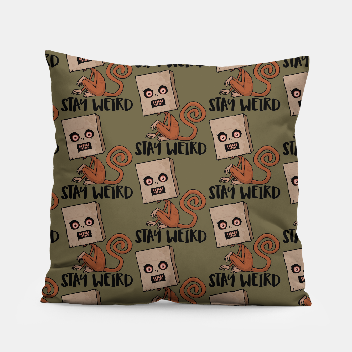 Foto Stay Weird Sack Monkey Pattern Pillow - Live Heroes
