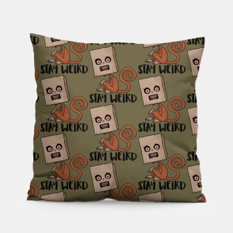 Miniatur Stay Weird Sack Monkey Pattern Pillow, Live Heroes