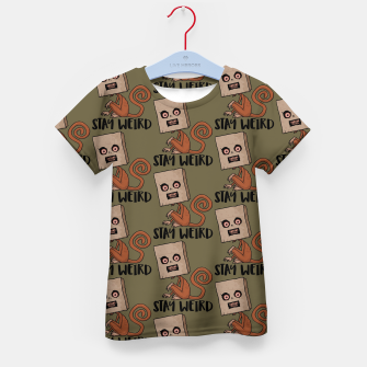Thumbnail image of Stay Weird Sack Monkey Pattern Kid's t-shirt, Live Heroes