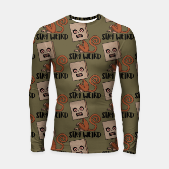 Thumbnail image of Stay Weird Sack Monkey Pattern Longsleeve rashguard , Live Heroes