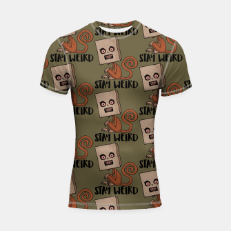 Thumbnail image of Stay Weird Sack Monkey Pattern Shortsleeve rashguard, Live Heroes