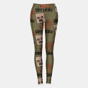 Thumbnail image of Stay Weird Sack Monkey Pattern Leggings, Live Heroes