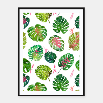 Thumbnail image of Monstera Love II Framed poster, Live Heroes