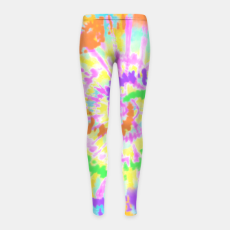 Thumbnail image of colorful mood Girl's leggings, Live Heroes