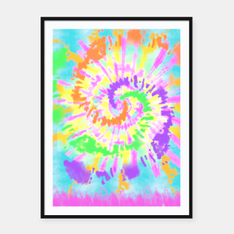 Thumbnail image of colorful mood Framed poster, Live Heroes