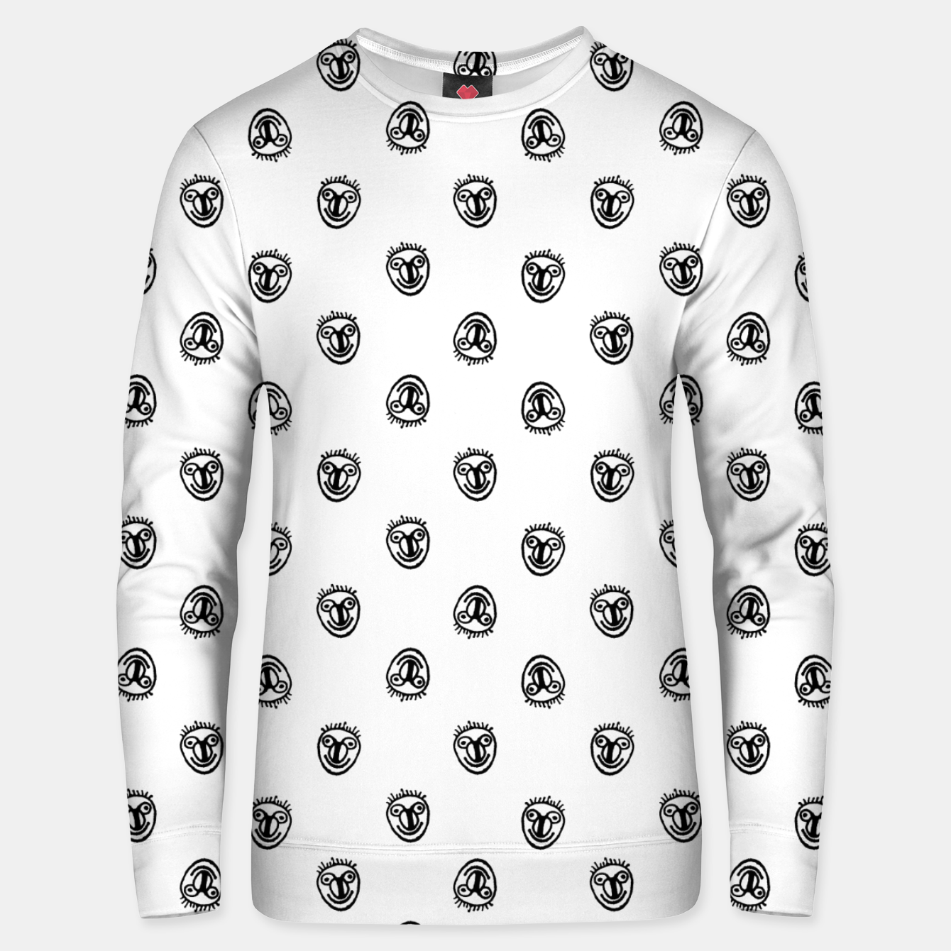 Image of Funny Clown Sketchy Drawing Pattern Unisex sweater - Live Heroes