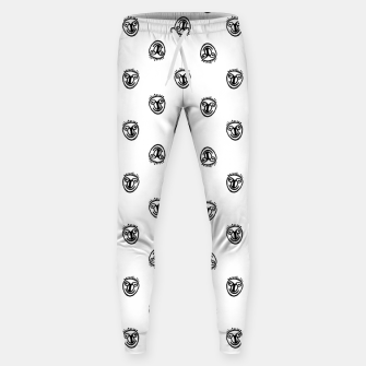 Thumbnail image of Funny Clown Sketchy Drawing Pattern Sweatpants, Live Heroes