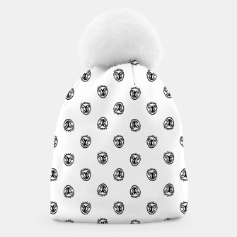Funny Clown Sketchy Drawing Pattern Beanie thumbnail image
