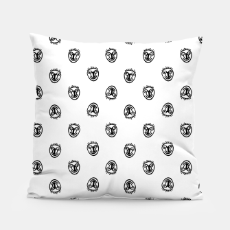 Funny Clown Sketchy Drawing Pattern Pillow thumbnail image