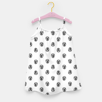Funny Clown Sketchy Drawing Pattern Girl's dress thumbnail image