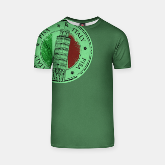 Thumbnail image of Italy Pisa Stamp T-Shirt, Live Heroes