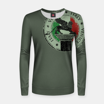 Thumbnail image of Italy Venice Stamp Frauen sweatshirt, Live Heroes