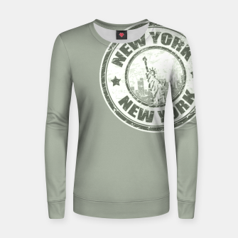 Miniature de image de New York Stamp Frauen sweatshirt, Live Heroes
