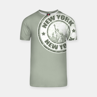 Miniature de image de New York Stamp T-Shirt, Live Heroes