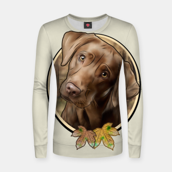 Miniatur Young Labrador - Graphic Style Frauen sweatshirt, Live Heroes