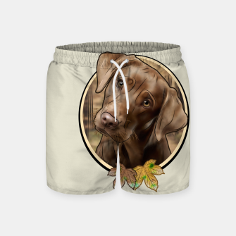 Miniatur Young Labrador - Graphic Style Badeshorts, Live Heroes