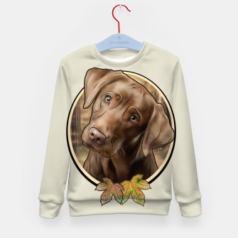 Miniatur Young Labrador - Graphic Style Kindersweatshirt, Live Heroes