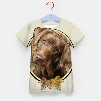 Thumbnail image of Young Labrador - Graphic Style T-Shirt für kinder, Live Heroes