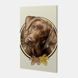 Young Labrador - Graphic Style Canvas Bild der Miniatur