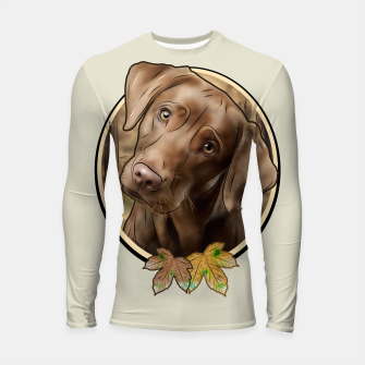 Miniatur Young Labrador - Graphic Style Longsleeve rashguard, Live Heroes
