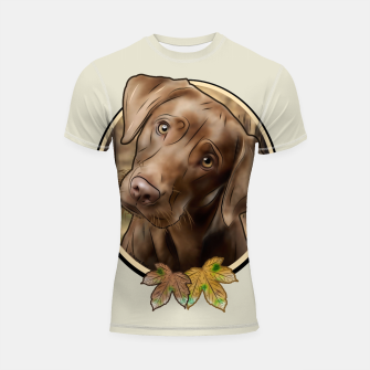 Miniatur Young Labrador - Graphic Style Shortsleeve rashguard, Live Heroes