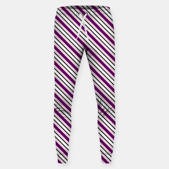 Miniatur Purple Stripes Sweatpants, Live Heroes