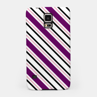 Miniatur Purple Stripes Samsung Case, Live Heroes
