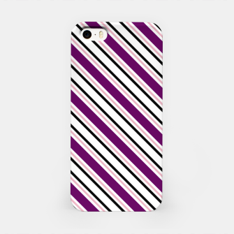 Miniatur Purple Stripes iPhone Case, Live Heroes